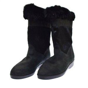 Blondo Black Suede Pony Hair Fur Women's Boots 10 B NEW